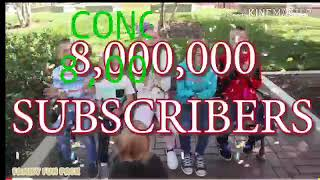 Family fun pack celebrating 8 million subscribers