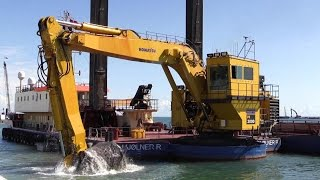 Big Komatsu PC3000-6 Long Reach Excavator Dredging