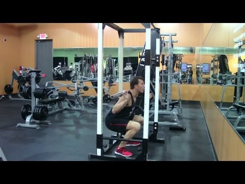 1 1/4 Barbell Squat - HASfit Quadriceps Exercise Demonstration - Quad Exercise - Thigh Exercises