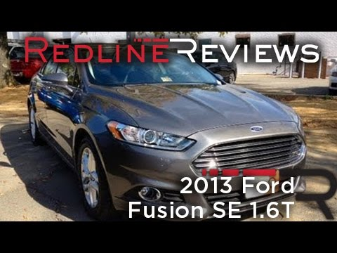 2013 Ford Fusion SE 1.6T Review. Walkaround. Exhaust. Test Drive