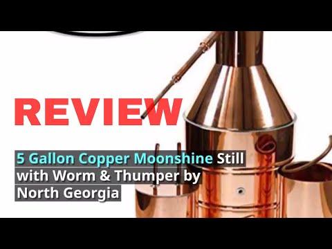 5 Gallon Copper Moonshine Still North Georgia Still Company