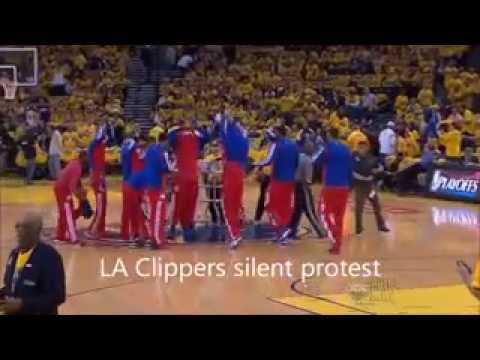 LA Clippers protest reaction to racist comments during NBA 2014 Playoffs