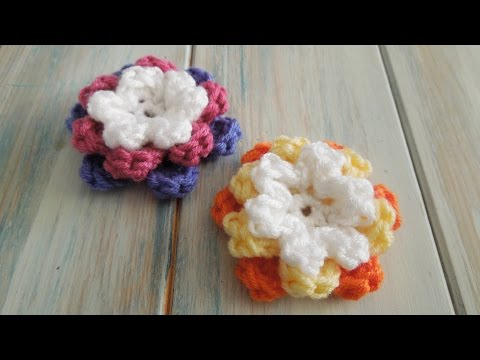 (crochet) How To Crochet a 3 Tiered Flower - Yarn Scrap Friday