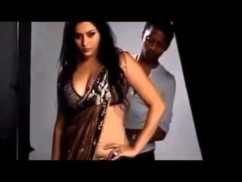 South Actress Namitha Hot Photo Shoot Saree Wearing Video video