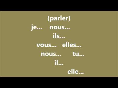 Franzoesische Verben, Konjugation Training : Verb PARLER im Präsenz aussprechen