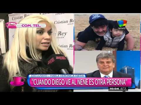 Ojeda, emocionada por el encuentro de su hijo con Maradona
