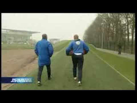 Oliver Pocher beim Training von Wolfsburg