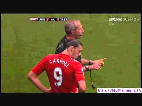 Andy Carroll's Tackle On Rami || Liverpool vs Valencia || 06/08/2011