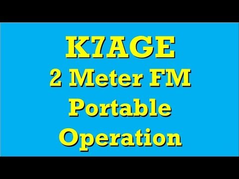 K7AGE Ham Radio 2M Portable in Gold Beach Or