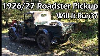 1928 Ford Model A Roadster Pickup Barn Find Will It Run?!