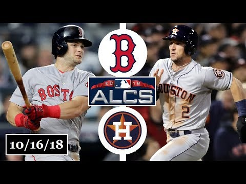 Boston Red Sox vs Houston Astros Highlights    ALCS Game 3    October 16, 2018