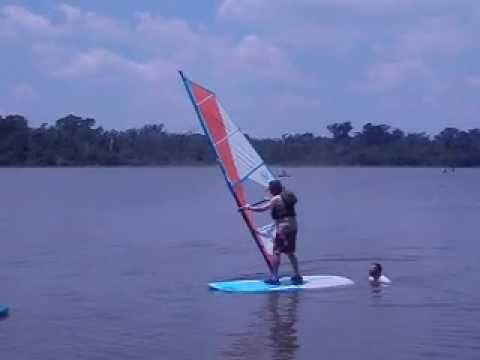POWDERHORN 2012 - Learning to Wind Surf - 05/19/2012. A Venturing adult ...