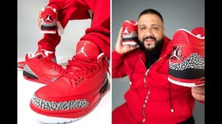 "DJ KHALED AIR JORDAN 3 ""GRATEFUL"" RETRO SNEAKERS! DOPE OR NOPE !?🤔"