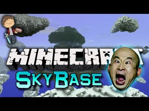 Minecraft: SkyBase Warriors Mini-Game w/Mitch & Friends! Game 2 - Orange vs Yellow!