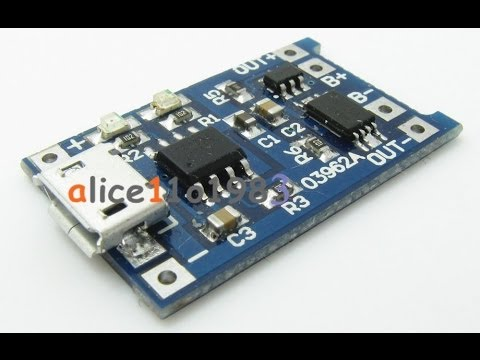New Tp4056 Lithium Cell Charger Module With Battery
