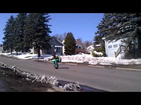 Winter Boardem pt.2, Duluth MN (Longboarding)