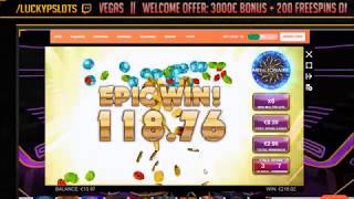 1137x MEGAWIN WHO WANTS TO BE A MILLIONAIRE NEW SLOT !!! MUST SEE !!!