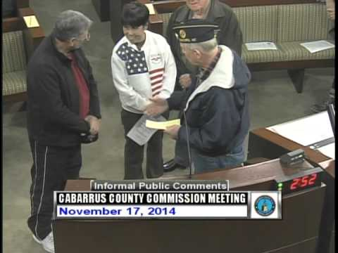 Cabarrus County Commissioners Mtg 11.17.2014