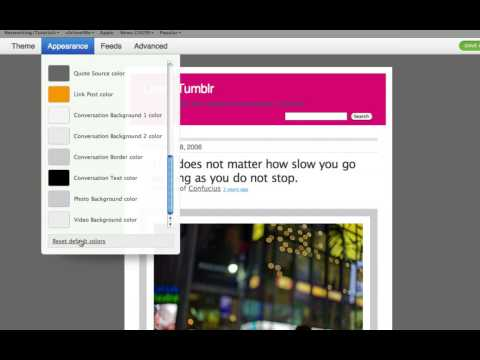 0 Learn Tumblr Ep2: Basic Blog Customization @ uSchoolme