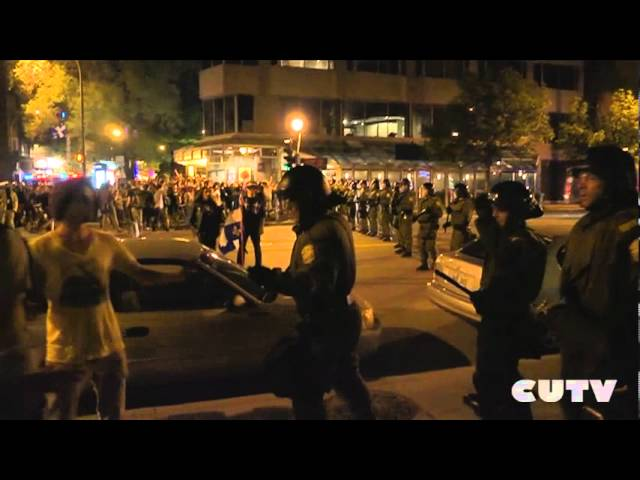May 23rd Police Attack CUTV's Journalist amp Kettled Protesters