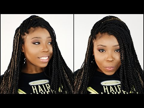 Mrs Rutters Perimeter Crochet Senegalese Twist Tutorial Part 5 of 7 - Finished Hairstyle