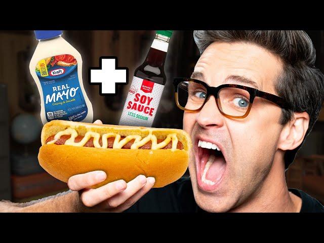 Weird Hot Dog Topping Taste Test thumbnail