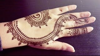 Simple Arabic Henna - Quick Stylish Mehendi Design - Easy to Do for Beginners