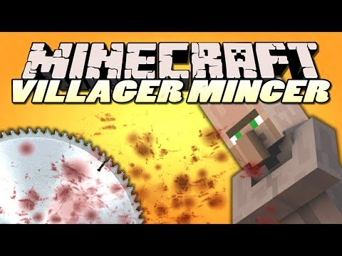 Minecraft Mods   Villager Mincer Mod   BLEND VILLAGERS (Mod Showcase)