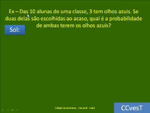 PROBABILIDADE - PARTE 4 DE 4 - FÁCIL FÁCIL - PASSO A PASSO - CC V62