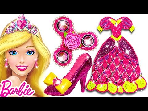 Play Doh Sparkle Barbie Disney Princess Shoes High Heels Dress Fidget Spinner Play Doh Toys For Kids