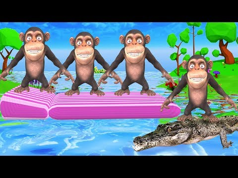 Five little Monkeys Jumping on the bed Nursery Rhymes Song for Kids