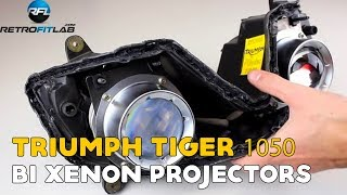 Triumph Tiger 1050  / Daytona 675 Bi xenon projectors, run both lights
