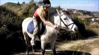 Blonde Girl and Horse