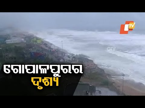 Impact of Cyclone Titli after landfall at Gopalpur sea beach in Ganjam