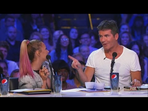 Demi Lovato and Simon Cowell - Funniest moments on The X factor - Season 2 (1/6) LEGENDADO