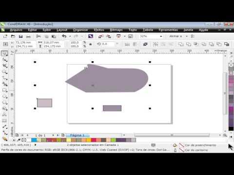 Curso de CorelDraw X6 - Aula 05 - Agrupando objetos