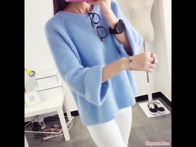 Пуловер спицам.Размер 50-52.Часть №4