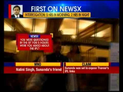 Shashi Tharoor midnight questioning in Sunanda case
