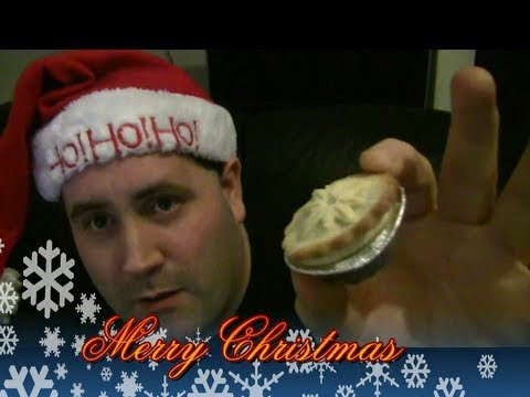 merry christmas - mince pies and hamsters