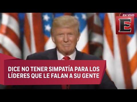 Donald Trump acepta candidatura republicana a la presidencia de EU