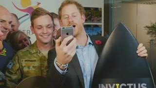 Prince Harry gets a call from Kylie as he announces the 2018 Invictus Games location