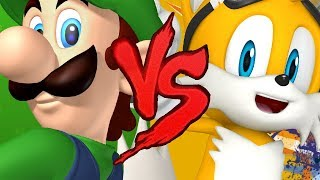 Luigi VS Tails | DUELO DE RAP (Ft. GT Black)