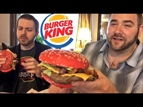 BURGER KING ANGRIEST WHOPPER RED BUN REACTIONS AND REVIEW!