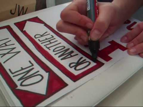 One Way or Another Lyrics Drawing Diy 'one Way or Another' Lyric
