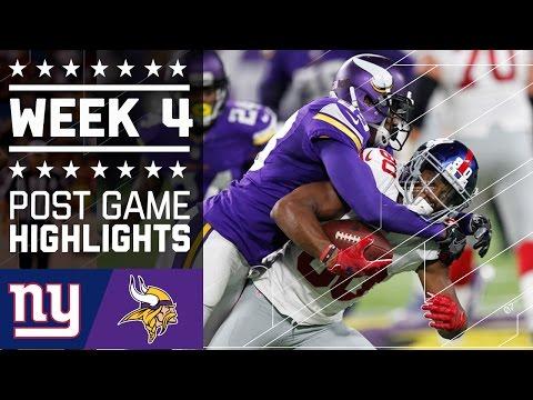 Giants Vs Vikings Nfl Week 4 Game Highlights
