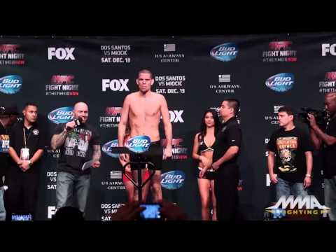 UFC on FOX 13 Weigh-Ins: Nate Diaz vs. Rafael dos Anjos