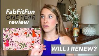 ONE YEAR of FabFitFun | Is It Worth It? | This or That