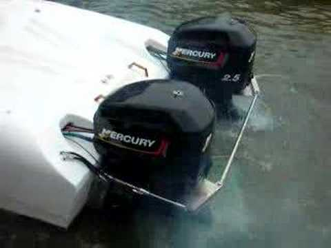 Wahoo Race Boat (2) 2.5 Outboards
