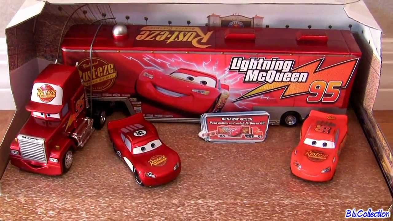 Disney Cars Mack Truck Hauler with 2 Diecast Cruising Lightning ...
