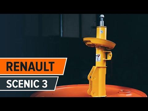 Wie RENAULT SCENIC 3 vordere Stoßdämpfer mit Backen wechseln TUTORIAL   AUTODOC